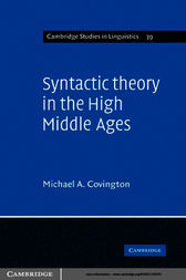 Syntactic Theory in the High Middle Ages by Michael A. Covington