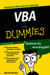 VBA für Dummies by John Paul Mueller