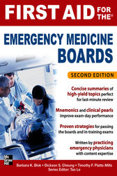 First Aid for the Emergency Medicine Boards 2/E by Barbara K. Blok
