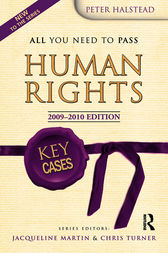 Key Cases Human Rights by Peter Halstead