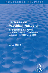 Lectures on Psychical Research (Routledge Revivals) by C. D. Broad