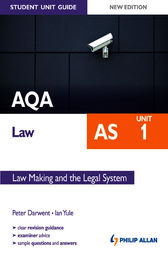 AQA Law AS Student Unit Guide: Unit 1 Law Making and the Legal System by Ian Yule