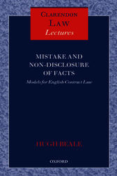 Mistake and Non-Disclosure of Fact by Hugh Beale