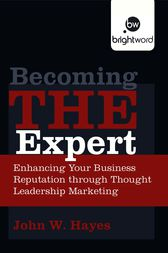 Becoming THE Expert by Hayes John W.