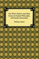 william james the will to believe and other essays