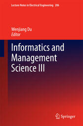 Informatics and Management Science III by Wenjiang Du