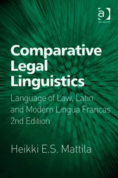 Comparative Legal Linguistics by Heikki E S Mattila