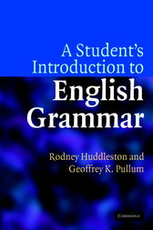 A Student's Introduction to English Grammar by Rodney Huddleston