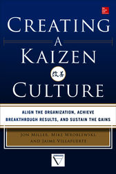 Creating a Kaizen Culture: Align the Organization, Achieve Breakthrough Results, and Sustain the Gains by Jon Miller
