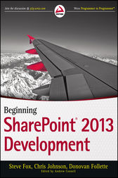 Beginning SharePoint 2013 Development by Steve Fox