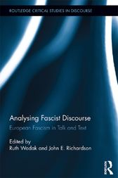 Analysing Fascist Discourse: European Fascism in Talk and Tex