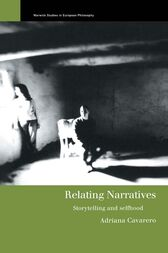 Relating Narratives by Adriana Cavarero