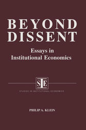 Beyond dissent economics economics essay in in institutional institutional study