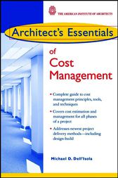 Architect's Essentials of Cost Management by Michael D. Dell'Isola