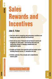 Sales Rewards and Incentives by John G. Fisher