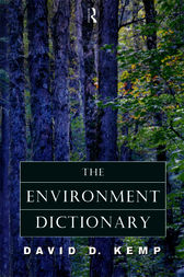 The Environment Dictionary by David Kemp