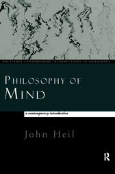 Philosophy of Mind: A Contemporary Introduction by John Heil