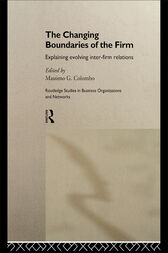 The Changing Boundaries of the Firm by Massimo G Colombo