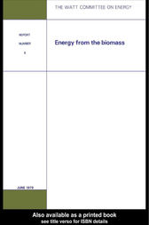 Energy from the Biomass by Watt Committee on Energy Publications