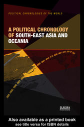 A Political Chronology of South East Asia and Oceania by Europa Publications
