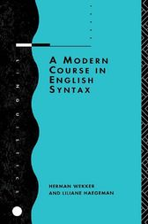 A Modern Course in English Syntax by Liliane Haegeman
