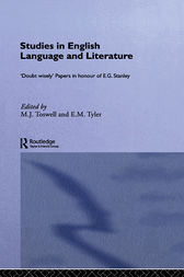 Studies in English Language and Literature by M. J. Toswell