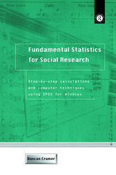 Fundamental Statistics for Social Research by Duncan Cramer