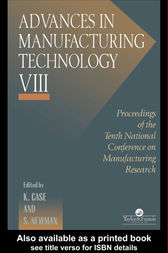 Advances In Manufacturing Technology VIII by K Case