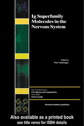 Ig Superfamily Molecules in the Nervous System by Peter Sonderegger