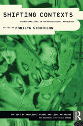 Shifting Contexts by Marilyn Strathern