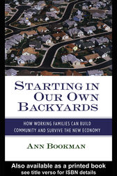 Starting in Our Own Backyards by Ann Bookman