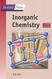 Instant Notes in Inorganic Chemistry by Tony Cox
