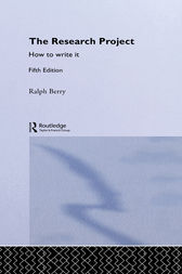 The Research Project by Ralph Berry