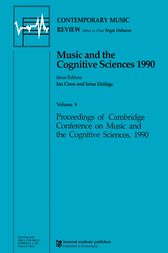 Music and the Cognitive Sciences 1990 by Ian Cross