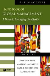 The Blackwell Handbook of Global Management by Henry W. Lane