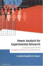 Power Analysis for Experimental Research by R. Barker Bausell