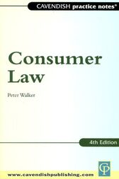 Practice Notes on Consumer Law by Peter Walker