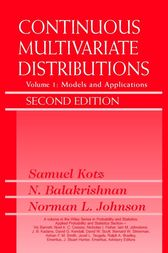Continuous Multivariate Distributions, Volume 1 by Samuel Kotz