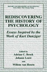 Rediscovering the History of Psychology by Adrian Brock