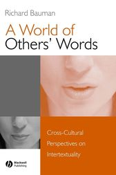 A World of Others' Words by Richard Bauman
