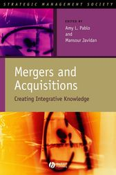 Mergers and Acquisitions by Amy L. Pablo