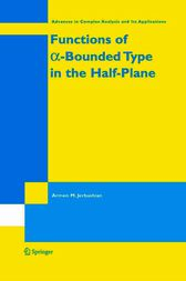 Functions of a-Bounded Type in the Half-Plane by A.M. Jerbashian