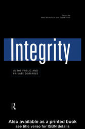 Integrity in the Public and Private Domains by Alan Montefiore