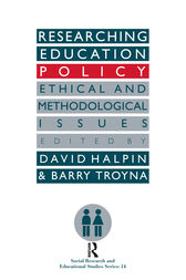 Researching education policy by David Halpin