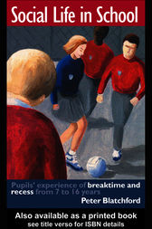 Social Life in School by Peter Blatchford