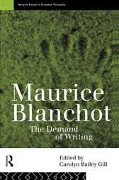 Maurice Blanchot by Carolyn Bailey Gill