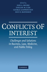 Conflicts of Interest by Don A. Moore