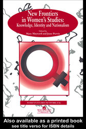 New Frontiers In Women's Studies by Mary Maynard