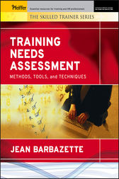 Training Needs Assessment by Jean Barbazette