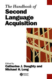 The Handbook of Second Language Acquisition by Catherine J. Doughty